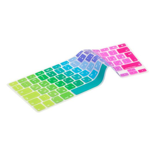 Image of   Arabic / Danish Rainbow Keyboard Cover
