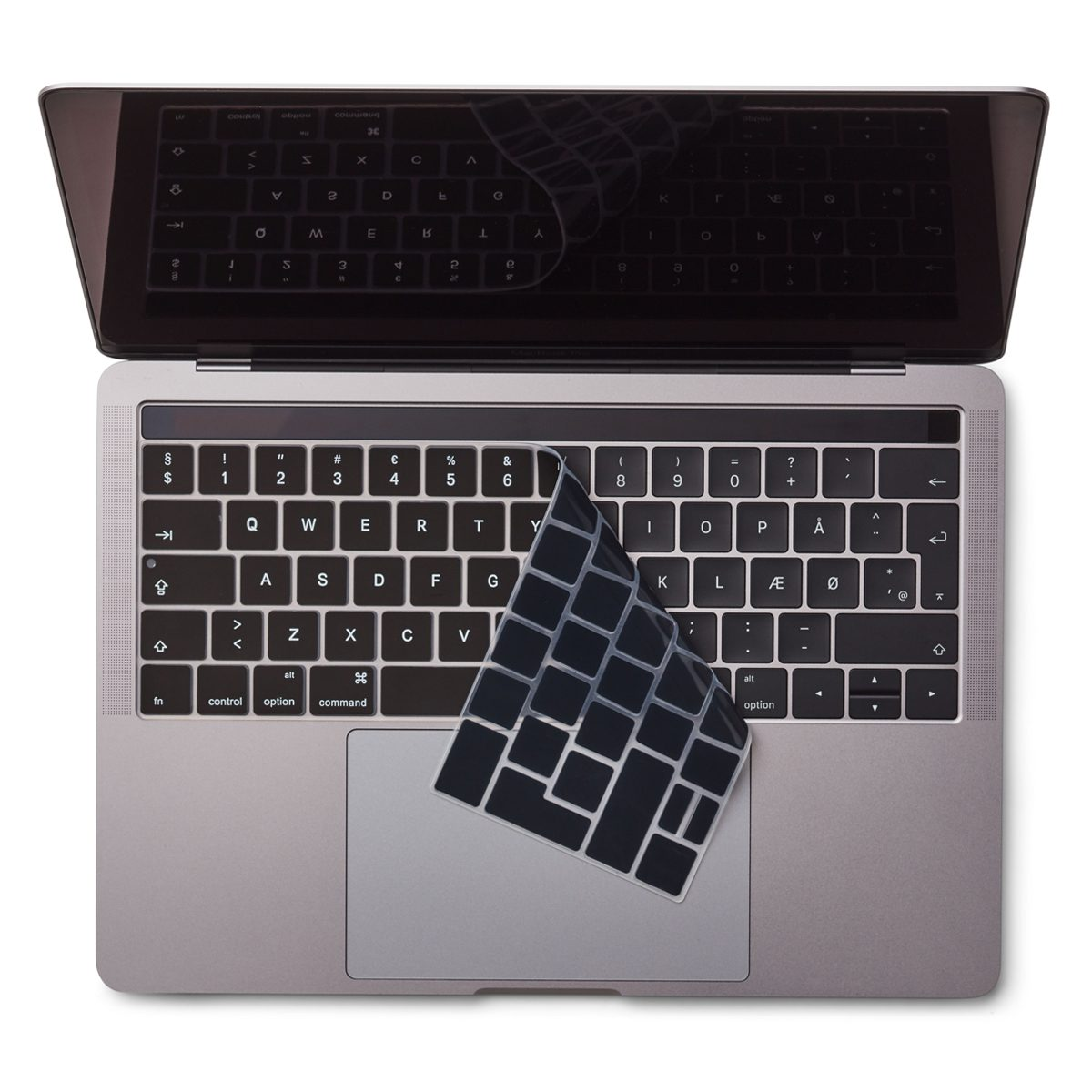 "Image of   Danish Black Keyboard Cover MacBook Pro Touch Bar 13"" / 15"""