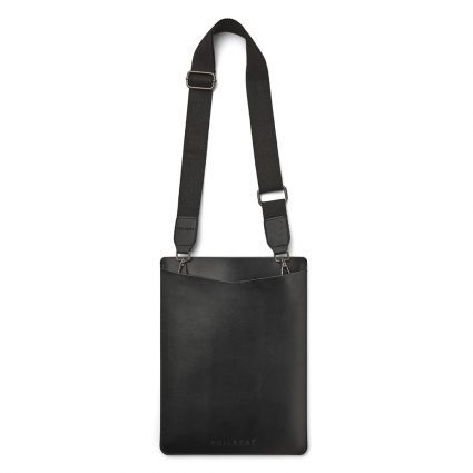 Black-Sleeve-with-Strap,-vegan-leather,- vegansk læder, Philbert