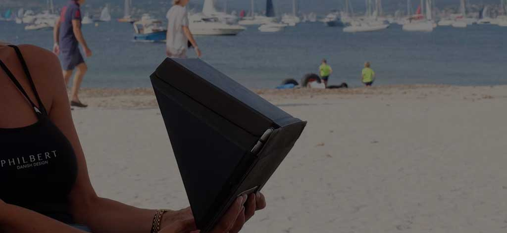 philbert sun shade and privacy cover for tablet ipad danish invention