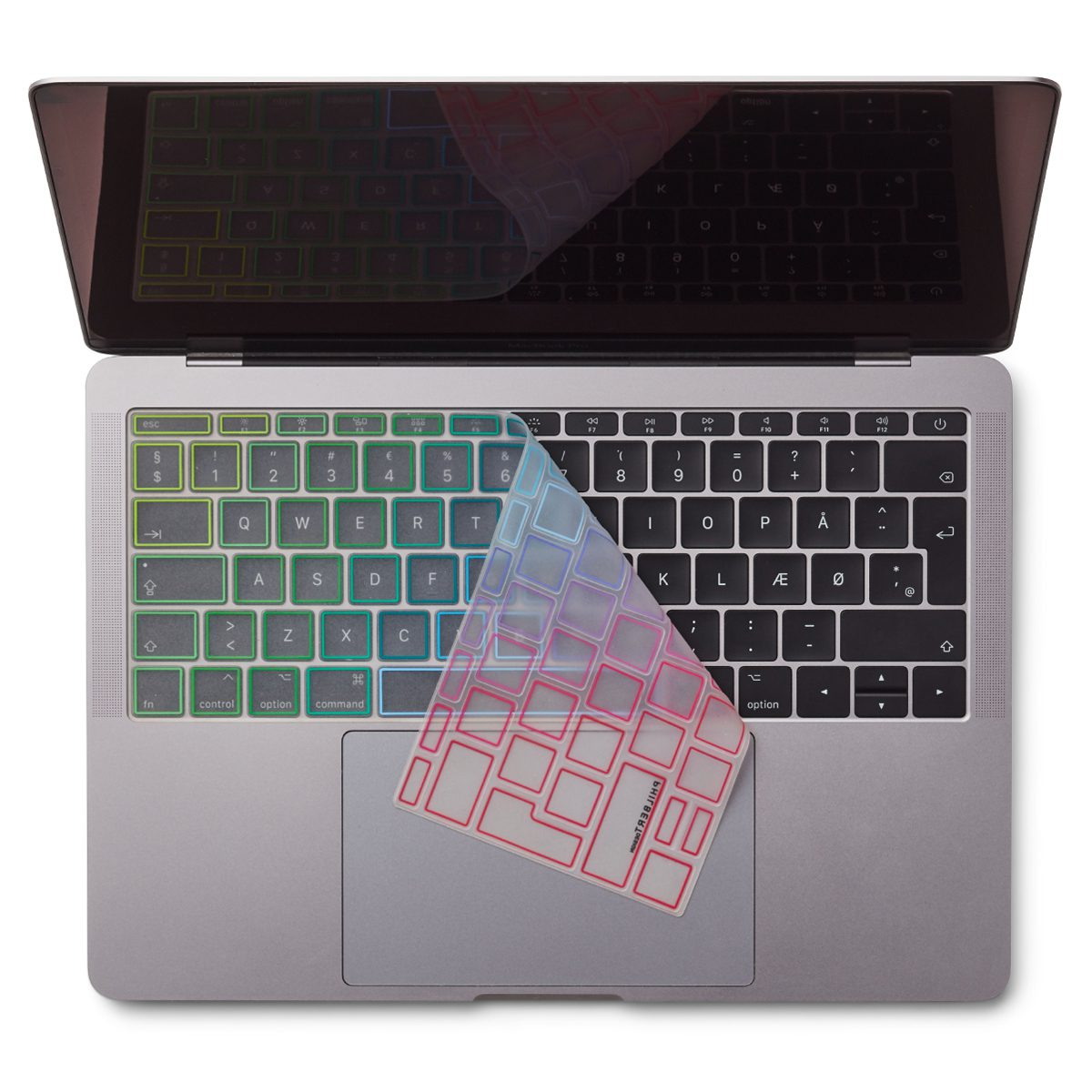 "Image of   EU Transparent/Rainbow Keyboard Cover - MacBook Pro 13"" and MacBook 12"""