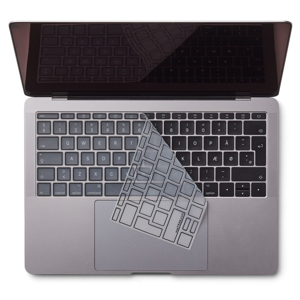 "Image of   EU Transparent/Black Keyboard Cover - MacBook Pro 13"" and MacBook 12"""