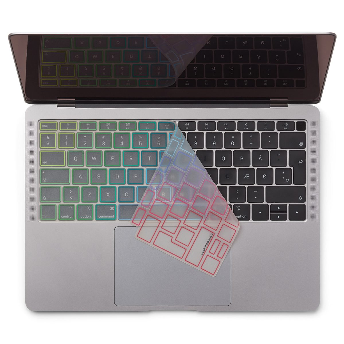 Image of   EU Transparent/Rainbow Keyboard Cover - MacBook Air 13""