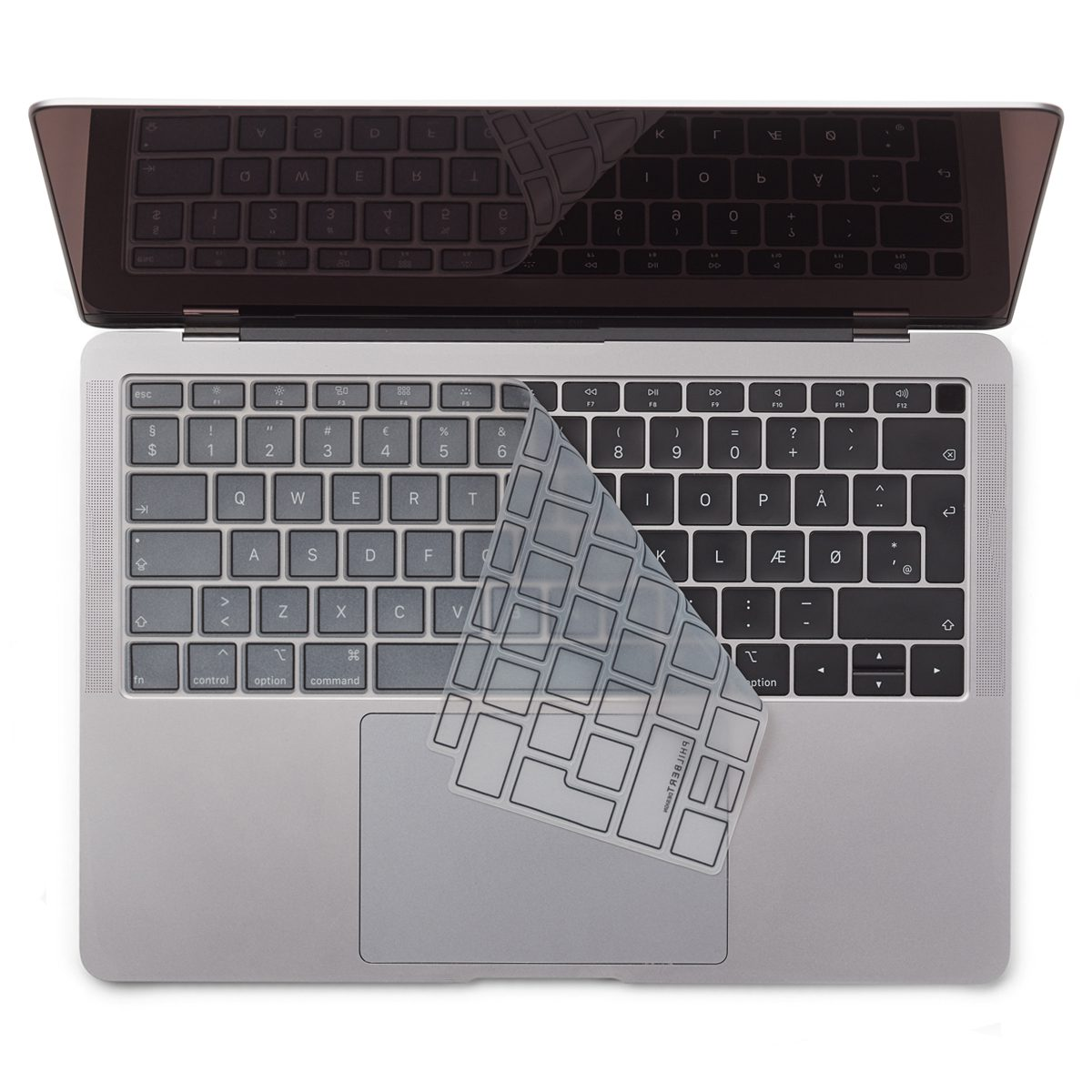Image of   EU Transparent/Black Keyboard Cover - MacBook Air 13""