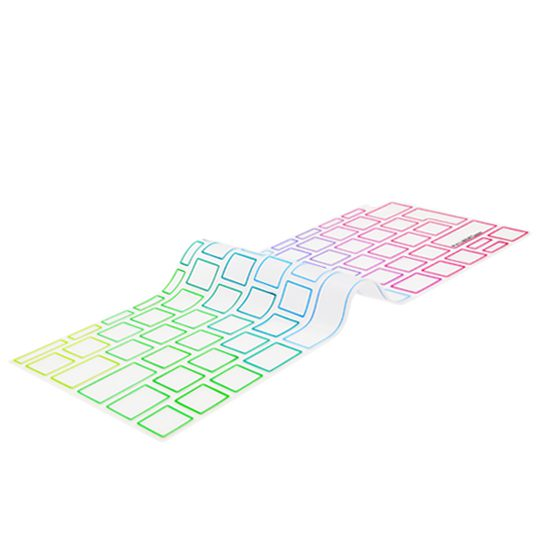 "Image of EU Transparent/Rainbow Keyboard Cover - MacBook Air 13"""