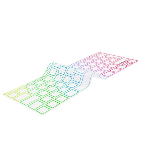 """Image of   EU Transparent/Rainbow Keyboard Cover - MacBook Pro 13"""" and MacBook 12"""""""